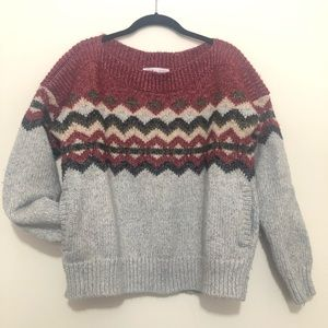 VS thick boat neck sweater with pockets